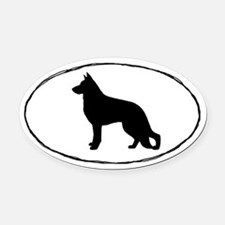 German Shepherd Dog Oval Car Magnet
