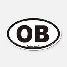 Oyster Bay OB Euro Oval Car Magnet