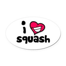 I Love squash Oval Car Magnet