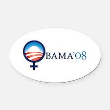 Cute Obama biden 2008 Oval Car Magnet
