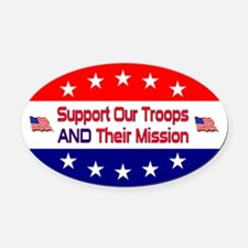 Support Our Troops Oval Car Magnet
