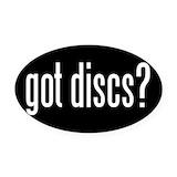 Disc golf Oval Car Magnets