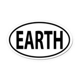 Earth Oval Car Magnets