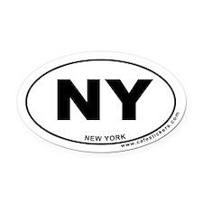 New York Oval Car Magnet
