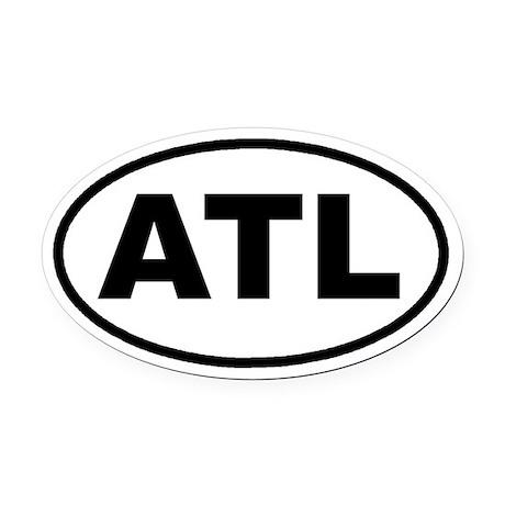 ATL Atlanta, Ga Euro Oval Car Magnet