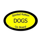 Dogs Oval Car Magnets