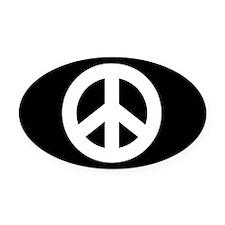 Peace Sign Oval Car Magnetblack)