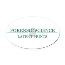 Forensic Science Oval Car Magnet