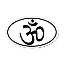 OM or Aum Oval decal Oval Car Magnet