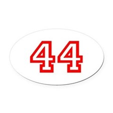 Number 44 Oval Car Magnet