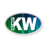 Key west Oval Car Magnets