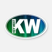Key West, FL - Oval Car Magnet