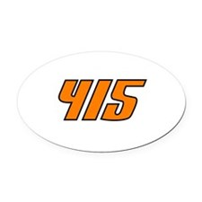 415 Oval Car Magnet