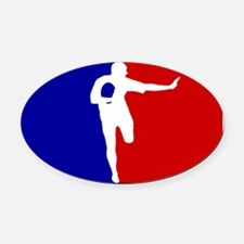 American Rugby Oval Car Magnet