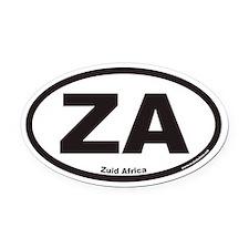 Zuid Africa ZA Euro Oval Car Magnet