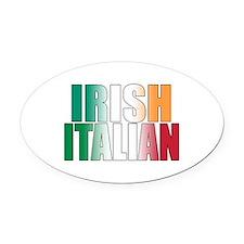 Irish Italian Oval Car Magnet