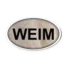 Weimaraner Oval Car Magnet (Gray Ghost)