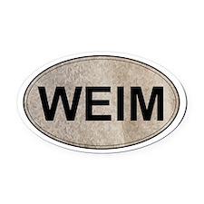 Weimaraner Oval Car Magnet (Gray Ghost)