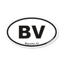 Bayville BV Euro Oval Car Magnet