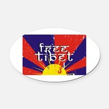 Free Tibet Oval Car Magnet