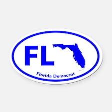 Florida BLUE STATE Oval Car Magnet