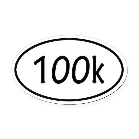 100k Oval Car Magnet