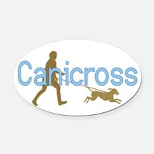 I Canicross Oval Car Magnet