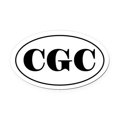 CGC Oval Car Magnet