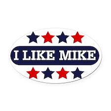 I Like Mike Oval Car Magnet