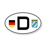 German flag Oval Car Magnets