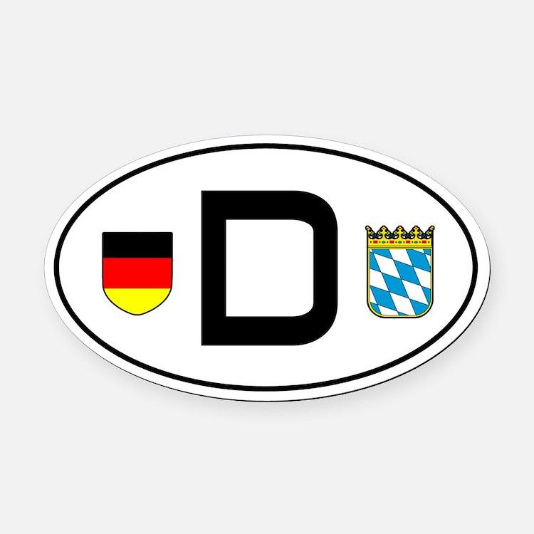 Germany car Oval Car MagnetBayern variant)