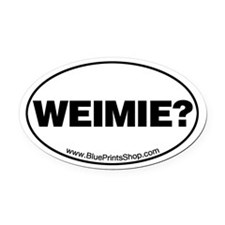 Weimie? Oval Car Magnet