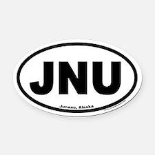 Juneau Alaska JNU Euro Oval Car Magnet