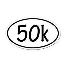50k Oval Car Magnet