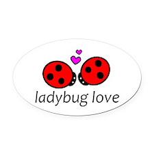 Unique Ladybug Oval Car Magnet