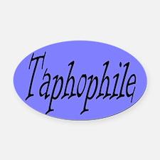 Taphophile Oval Car Magnet