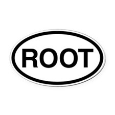 Root Oval Car Magnet