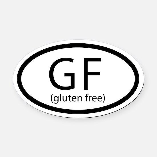 Gluten Free Car Oval Car Magnet