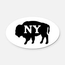 Buffalo New York Oval Car Magnet