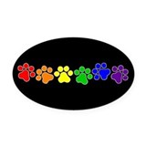 Gay pride Oval Car Magnets