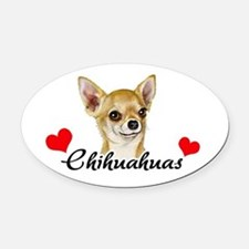 Love Chihuahuas Oval Car Magnet