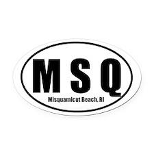 MSQ Misquamiut Beach, RI Euro Oval Car Magnet