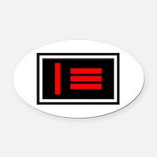 Master/slave Pride Flag Oval Car Magnet