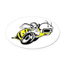 SUPER BEE 2 Oval Car Magnet
