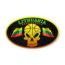 Lithuania Basketball Oval Car Magnet