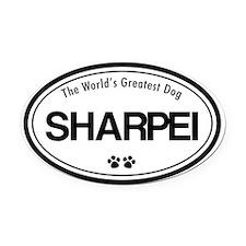 Sharpei Breeds Oval Car Magnet