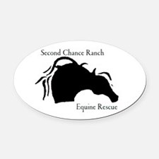 Funny Equine rescue Oval Car Magnet