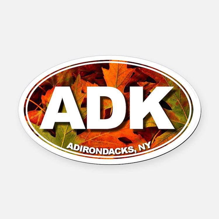 ADK (Fall Leaves) Oval Car Magnet