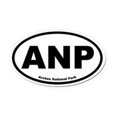 Arches National Park Oval Car Magnet