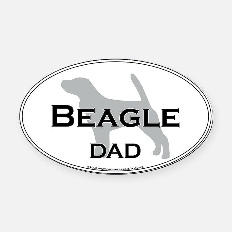 Beagle DAD Oval Car Magnet